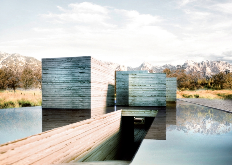 Polifactory's Hous.E+ generates energy from a lake on its roof