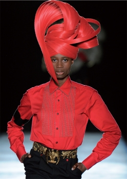 Red Fulani Turban