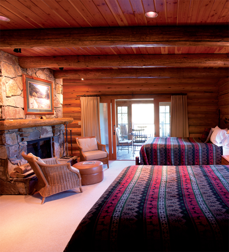 A double suite at South Fork Lodge