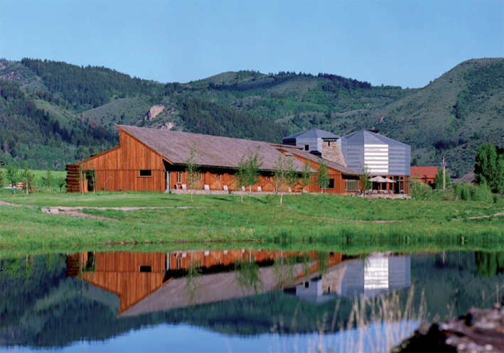 The Lodge seen from across the Snake River