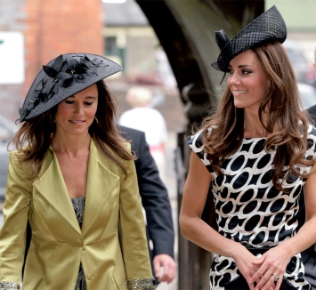 The Middleton sisters wearing their Philip Treacy creations
