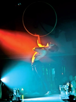 Acrobats and fine dining, Circus, London
