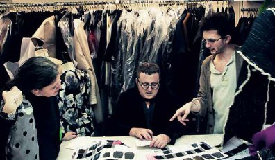 Elbaz works closely with the pattern makers to discuss every decision
