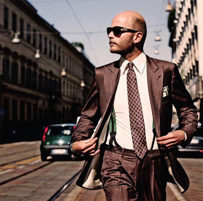 Heir to the tailoring dynasty, Luca Rubinacci is a regular on blogs around the world