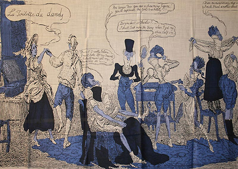 An image taken from a vintage book, 'La Toilette du Dandy' is a secret known only to its owner