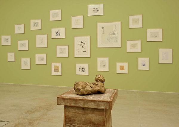 The exhibition includes new and existing drawings, monoprints, sculptures and neons