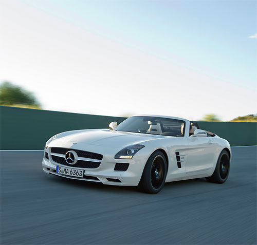 The Mercedes-Benz SLS AMG roadster