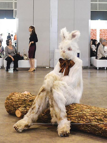Marnie Weber Log Lady & Dirty Bunny, 2009 Simon Lee Gallery