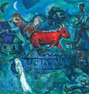 Marc Chagall,Maries au village,1969