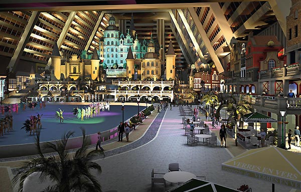 The new lifestyle development by KOP Properties will offer yearround winter activities, including the world's longest indoor ski trail