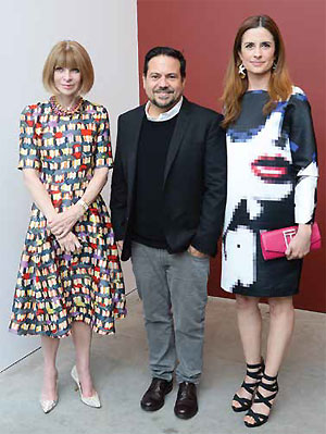 Industry Support - Firth's work is backed by industry heavyweights such as US Vogue Editor-in-Chief Anna Wintour