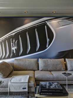 The Maserati Suite interiors at Hotel de Paris