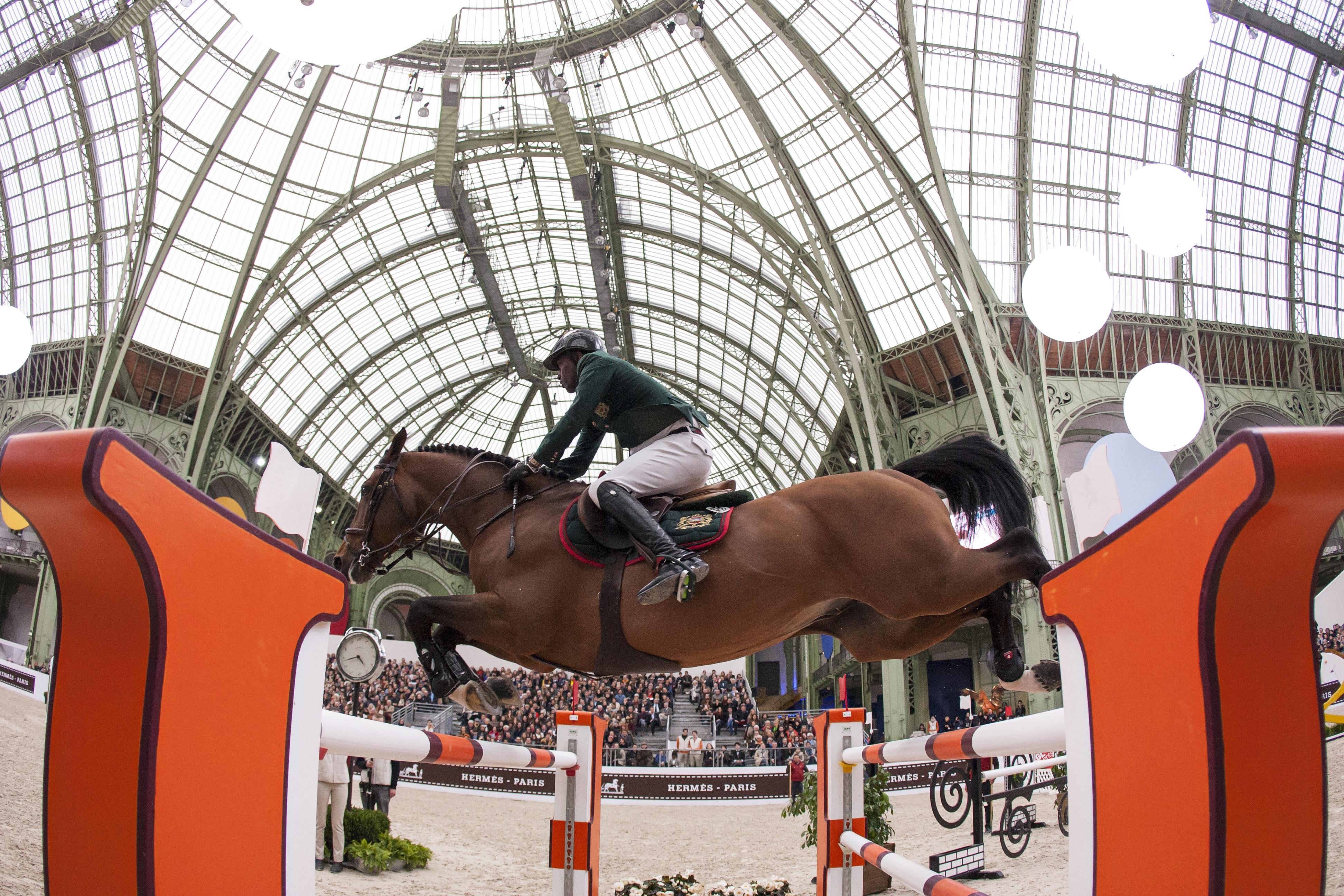 Winning horse rider at Saut Hermes