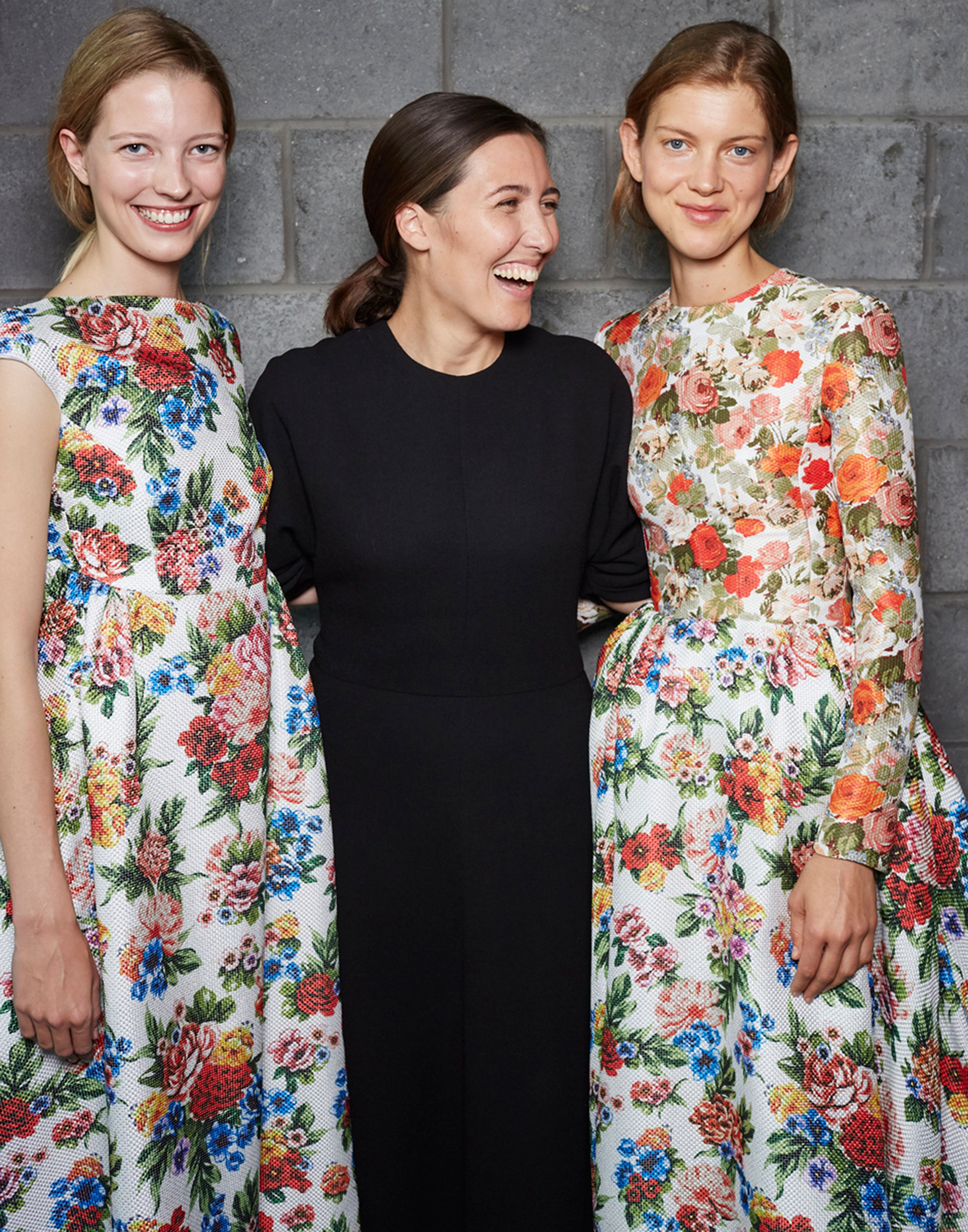 Backstage at London Fashion Week with Emilia Wickstead