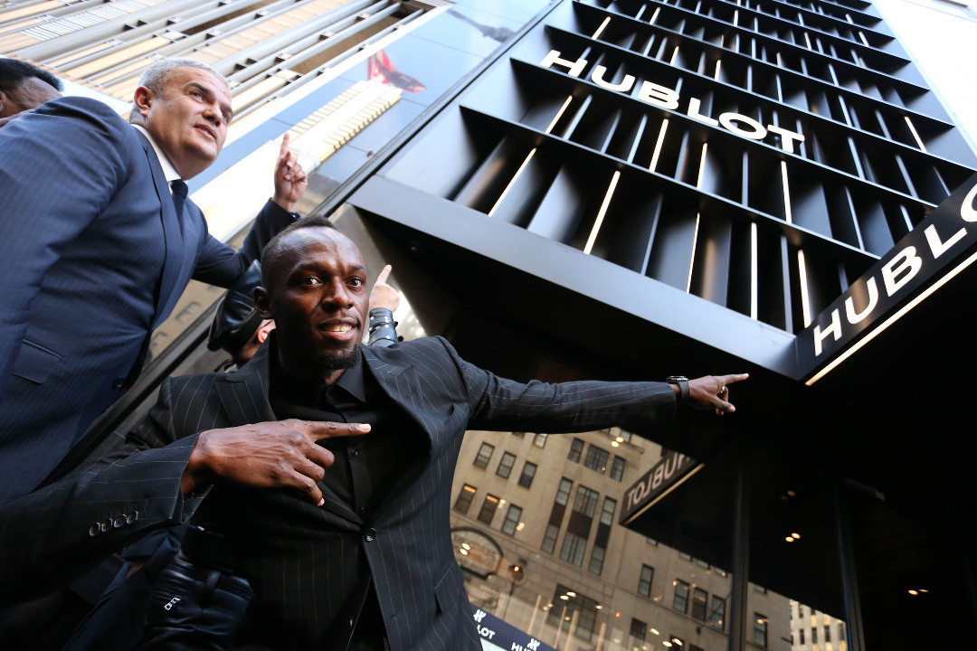 Ricardo Guadalupe, CEO of Hublot, and athlete, Usain Bolt