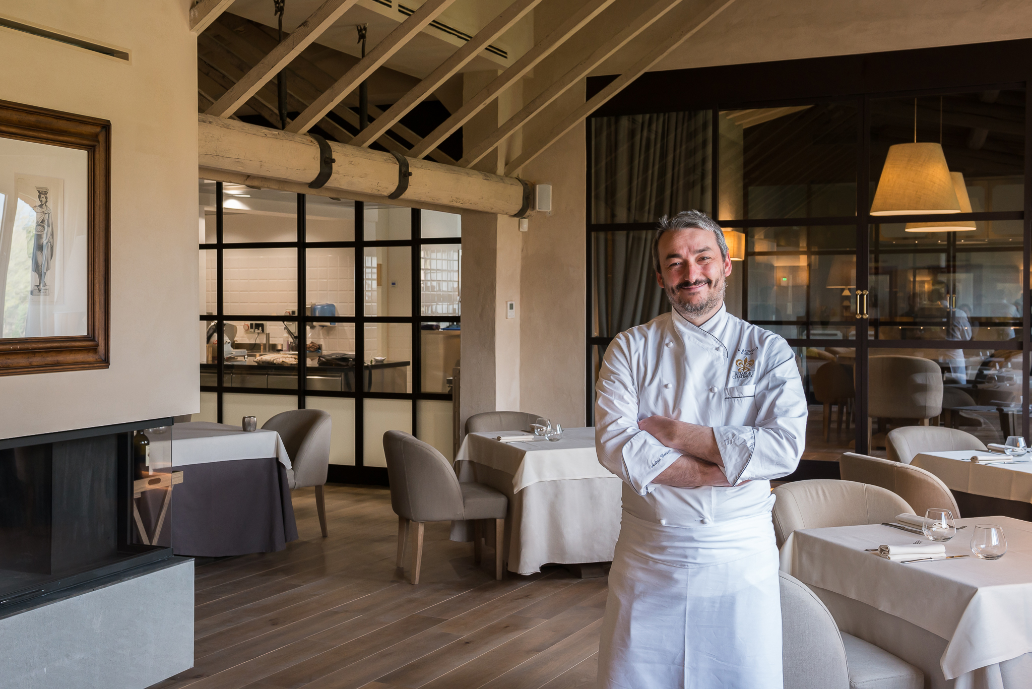 Andrea Campani heads the kitchens at Il Borro