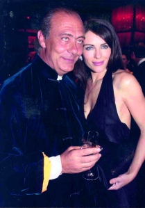 de Grisgono founder pictured with Liz Hurley