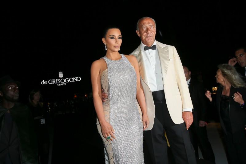 Kim Kardashian with de Grisogono founder
