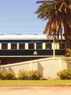 Rovos Rail in the Karoo settlement of Matjiesfontein