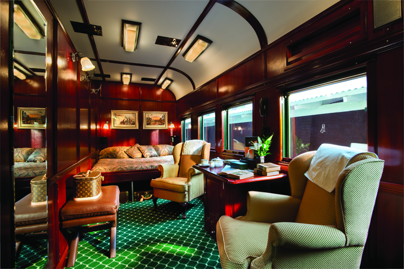 Royal suite on the rovos train